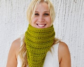 Lemongrass COWL - Perfect Green, Comfy, Bright, Happy, Boho, Hippie, Funky, Round, Neck Warmer, Winter, Accessories, Fashion, Hip, Yarnival.