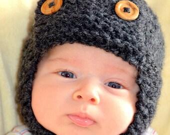 Aviator baby hat photography prop newborn, 0-3, 3-6 months