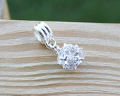 Pugster Silver Plated Dangle Clear Crystal Free US Shipping