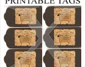 Primitive Tags Printable 6 Per Sheet , Digital Sheep Folk Art