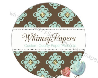 Floral Thank You Labels, Shop Stickers, Thank You Labels, 1.5, 2 or 2.5 Inch, Glossy Round labels