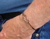 Sailors Knot, Lovers Knot, Celtic Knot Cuff Bracelet in Copper and Brass