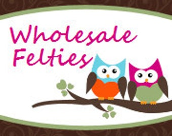 Wholesale embroidered Felt Felties - 20 Sheets