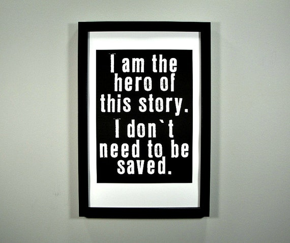 I am the Hero - FRAMED Print