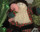 Christmas Bearded Elf with Candy Cane Home Decor