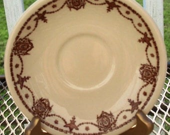 McNicol Genuine China Vintage Saucer Brown & Cream