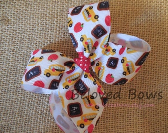 Back to School Basic Bow---4 Inches---Hair Bow