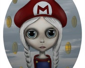 Super Mario Blythe Limited Edition Unframed Print by Vanessa Velasquez