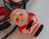 Vintage Christmas Holiday Santa Claus light covers