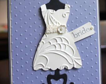 Handmade Bridal Shower Congrats/Thank You Wedding Card