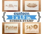1 x 1.5 in - YOUR CUSTOM DESIGN - Art Wood Mounted Rubber Stamp - Perfect for Logo, Branding, Packaging, Invitations, Party, Wedding Favors