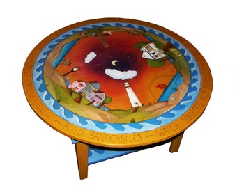 Wood table/ Coffee table/ Center table/ Whimsical table/ Handpainted furniture
