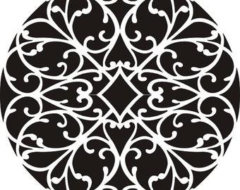 Stencil Amour Mandala Wall Stencil, Painting Stencil, Rug Stencil, Wall Decor