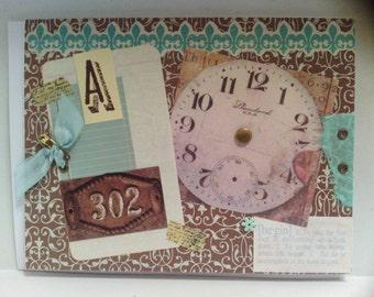 Antique Look Clock School Time Card