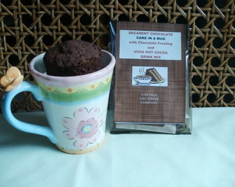 Chocolate Lovers Cake in a Mug, Mexican Cocoa, Chocolate Frosting Pack