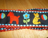 Colorful Vintage  Ribbon Bears and Balls Flowers and Horses Primary Colors Bright and Cheerful Kids Dolls
