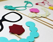Retro Photo Booth Props. Photobooth Props. Party. Wedding Party Photo Booth Prop Set. Photo Booth Props. Little Retreats Set of Nine