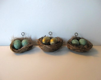 10 Bird's nest place card holders, Wedding, Custom Favors, Rustic Name tag holders
