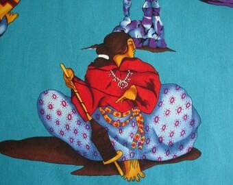SOUTHWEST Fabric Navajo Women Rare Early Alexander Henry - 1 yard - #L3