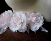 Petite Silk Flower in Palest Ballerina Pink for Bridal, Headpieces, Sashes,Hats, Corsages MF105