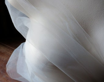 "4 YARDS OYSTER Illusion Tulle  72"" wide American made for Veils, Birdcage Veils, Garters, Fascinators, Hats, Headbands....."