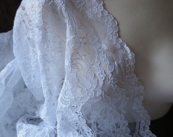 FAT QUARTER Alencon Lace in WHITE for Bridal, Mother of the Bride,  Clutches, Skirts, Costumes