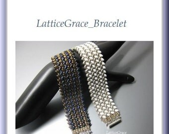 SuperDuo Beading Tutorial instructions patterns- PDF download- LatticeGrace/bracelet
