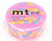 mt ex masking tape - retro flower- single