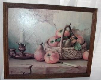 Framed Still Life with Apples Print