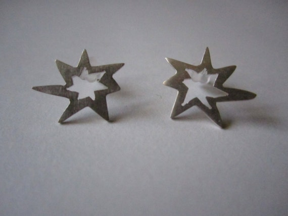 POW - Sterling silver earrings