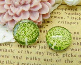 Handmade Glass Cabochon 10pcs 12mm Image Glass Cabochon P40--20% OFF