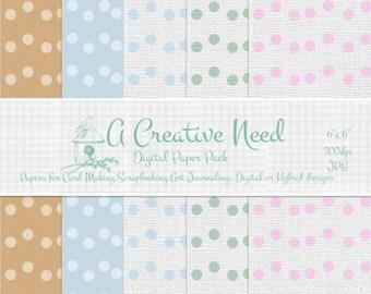 INSTANT DOWNLOAD Sponge Dots Digital Paper Pack , Printable for Scrapbooking, Cards, Crafts, Digital or Hybrid Designs