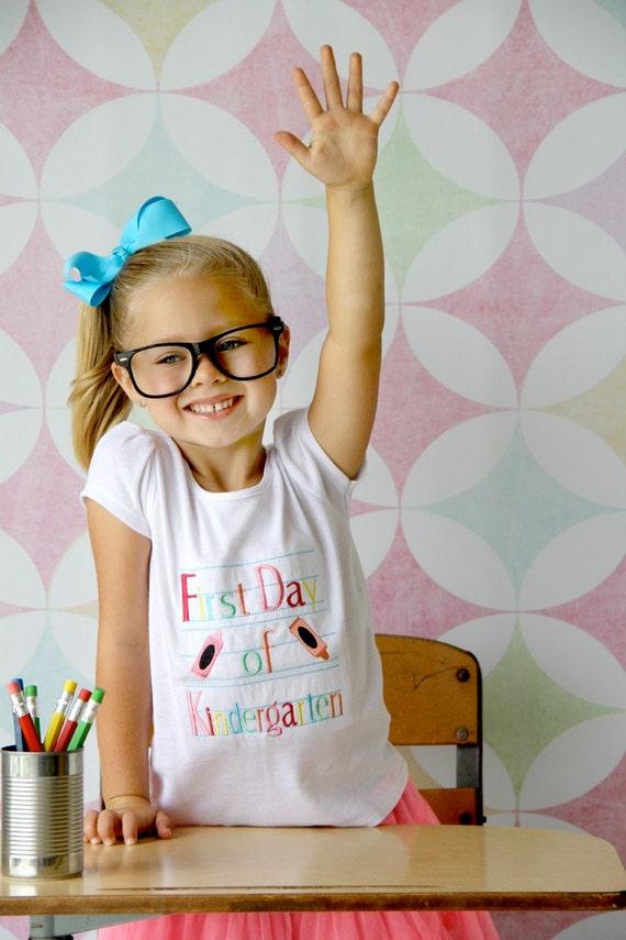 Girls First Day Of Kindergarten Tshirt Back-To-School Shirt-2510