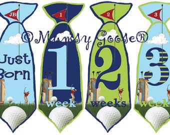 Baby Boy Tie Stickers First Weeks Newborn Stickers Baby Months Stickers Boy Tie stickers Baby Golf Milestones  Great Newborn Photo Prop
