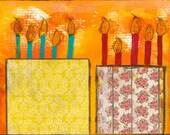 "Double the Fun 5""x7"" Blank Birthday Card, Birthday Notecards, Celebrate Your Birthday, Birthday Stationery"