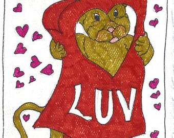 Valentines Day blank notecard V001