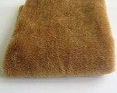 Short Pile Mixed Brown and Ginger Fur fabric