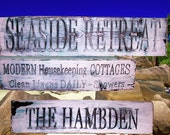 Personalized Beach House sign - Hand routed, carved, and painted.  Let your imagination run wild!