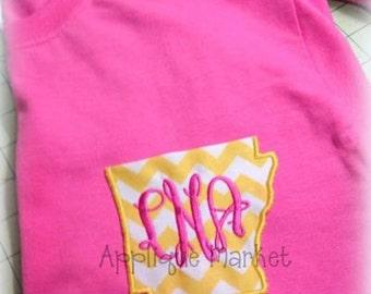 Machine Embroidery Design Applique Appli-Pocket 1 Arkansas Shape INSTANT DOWNLOAD