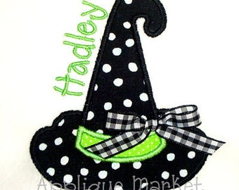 Machine Embroidery Design Applique Witch Hat INSTANT DOWNLOAD