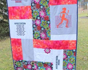 Custom Blanket - T-Shirt Memory Quilt Blanket - Color Block Design