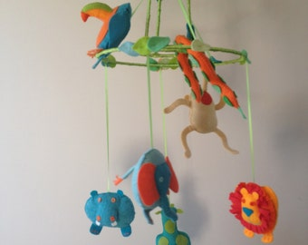Baby, Nursery, Jungle, Animal, Mobile, Made to Order