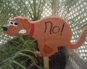No Pooping Garden Stake