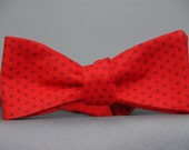 Red on Red Polka Dot  Bow Tie