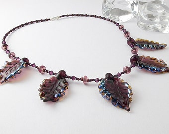 Lampwork Leaf Necklace
