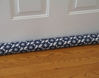 Door Draft Stopper, Navy Door Snake,
