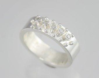 5 Stone w-14 Ball Ring (Cubic Zirconia) Made to Order