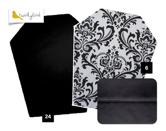 Reversible Mei Tai Carrier - Black Damask and Pure Black