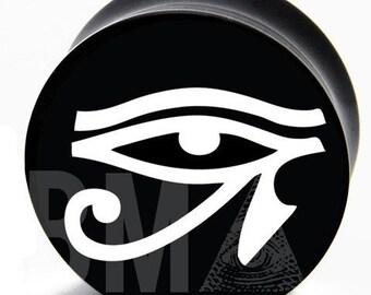 00g (9.5mm) Eye of Horus BMA Plugs Pair