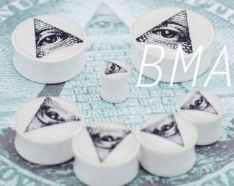 2g (6mm) All Seeing Eye BMA Plugs Pair